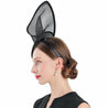 Black Headband Fascinator Hat with a Leaf and Butterfly Decoration