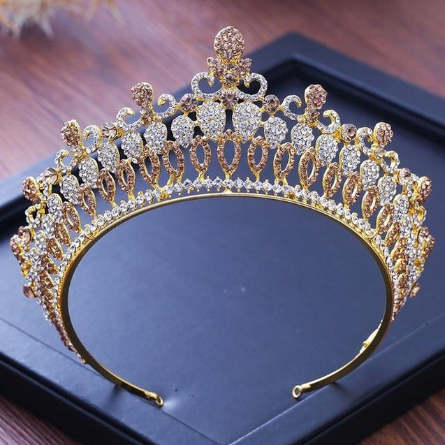 Baroque Princess Queen Crystal Crowns for Women - InnovatoDesign