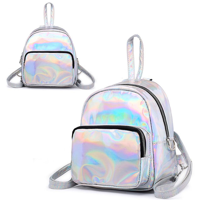 Holographic Leather Mini Transparent Travel Bags for Girls - InnovatoDesign