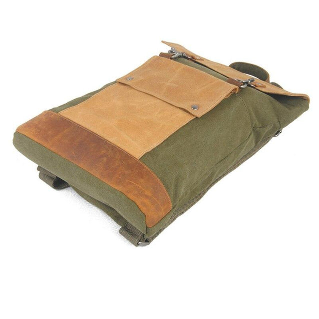 Vintage Canvas Leather Travel 20 to 35 Litre Backpack - InnovatoDesign