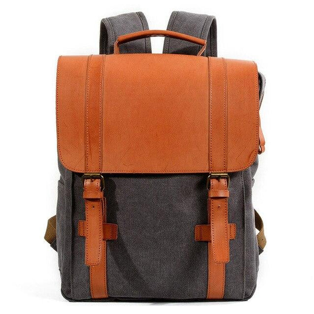 Multi-functional Waterproof Canvas Leather 20 to 35 Litre Backpack - InnovatoDesign