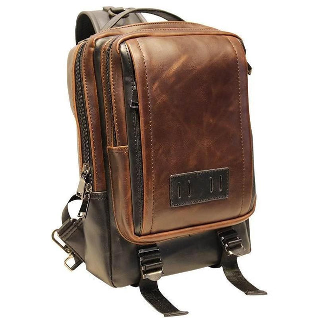 Brown Single Shoulder Body Chest 20 Litre Travel Bag - InnovatoDesign