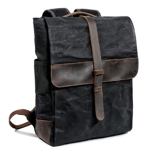 Canvas Leather Traveling 20 to 35 Litre Backpack - InnovatoDesign