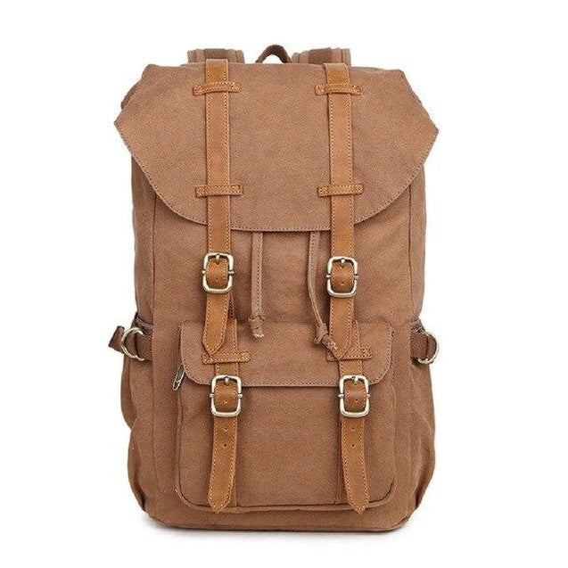 Canvas Leather Multi-functional Travel Backpack 20 to 35 Litre - InnovatoDesign