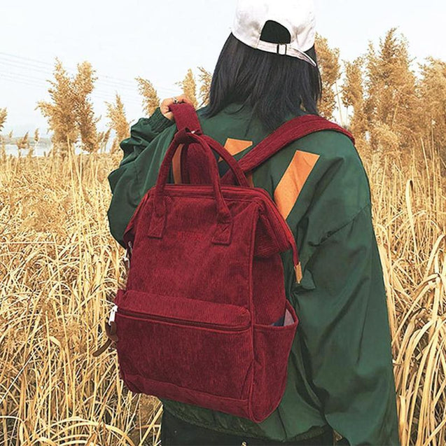 Corduroy Travel 20 Litre Backsack for Teenage Girls - InnovatoDesign