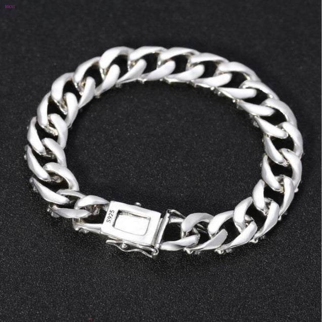 925 Sterling Silver Wrist Chain Bracelet for Men - InnovatoDesign