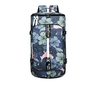 Three-Way Multipurpose Cylindrical 25 to 35 Litre Fitness Backpack with Shoe Compartment - InnovatoDesign