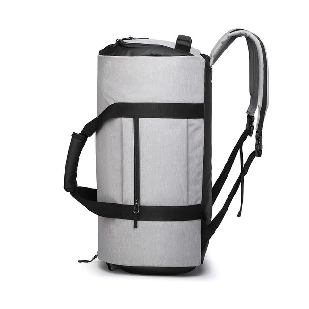 Black/Gray 20 to 35 Litre Waterproof Sport Backpack with Shoe Pocket - InnovatoDesign