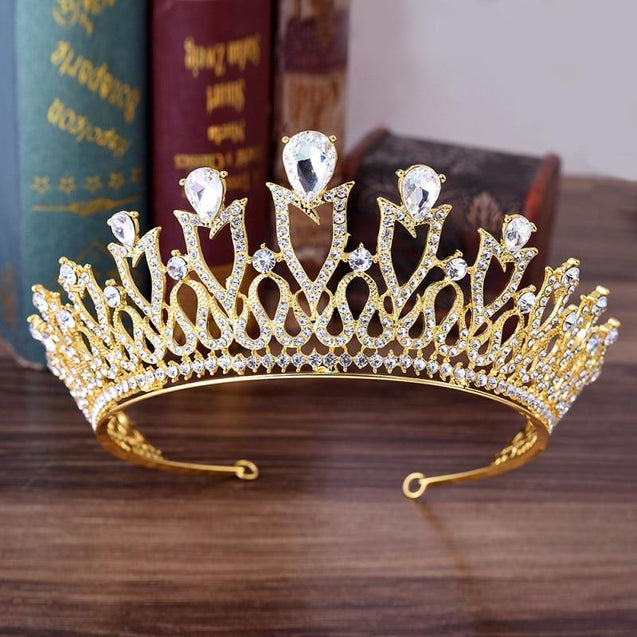 European Monarch Crystal Wedding Queen Crown Tiaras - InnovatoDesign