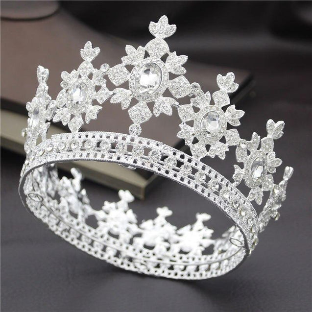 Fashion Royal King and Queen Tiara Crown for Wedding or Party - InnovatoDesign