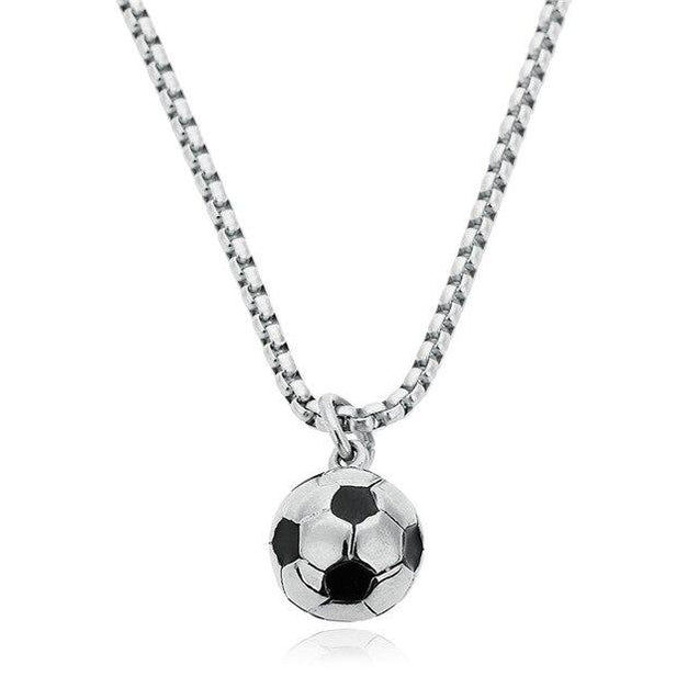 Stainless Steel Soccer / Football Necklace Ball Chains - InnovatoDesign