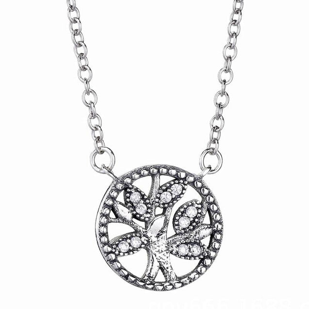 Crystal Charm Tree of Life Celtic Pendant Necklace - InnovatoDesign