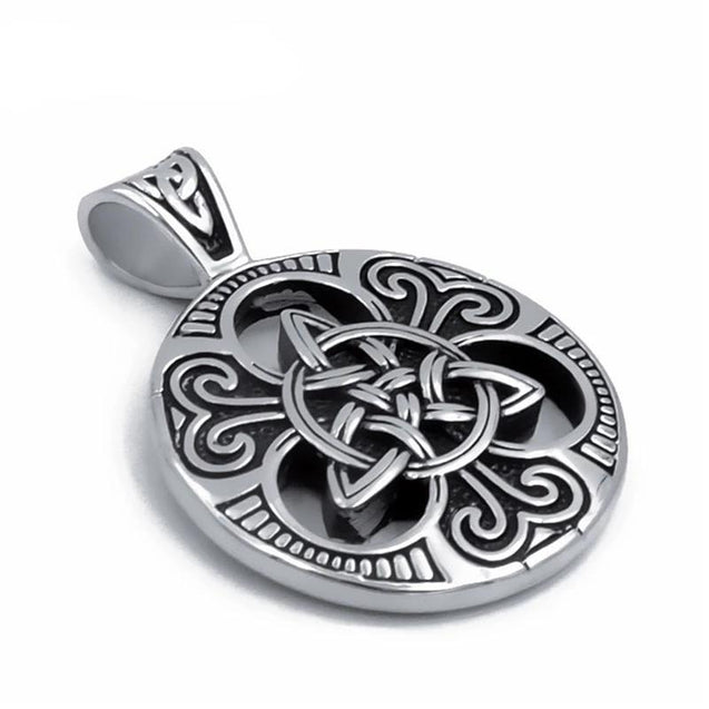 Silver Celtic Triquetra Knot Pendant with Chain - InnovatoDesign