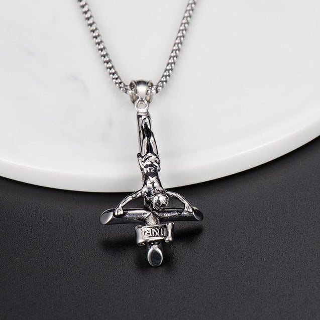 St. Peter's Inverted Jesus Cross Pendant Necklace - InnovatoDesign