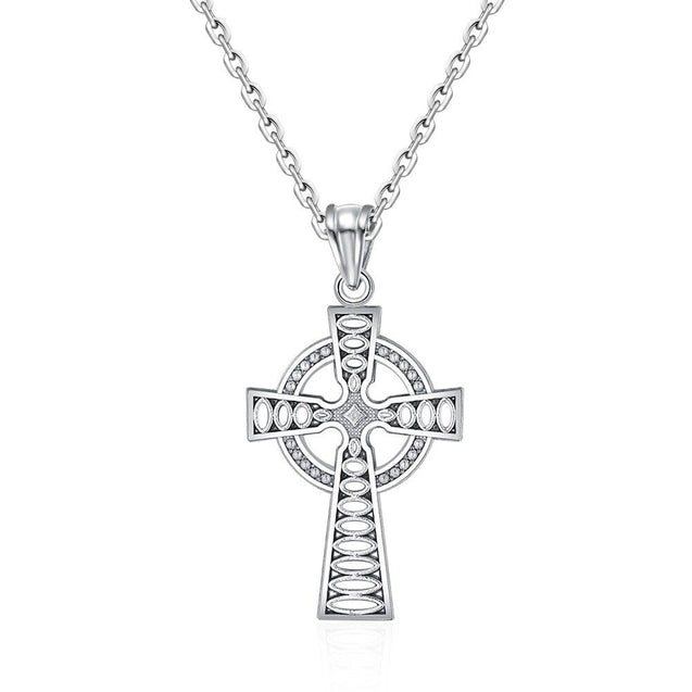 925 Sterling Silver Classic Vintage White Ortodox Cross Charm Pendant - InnovatoDesign