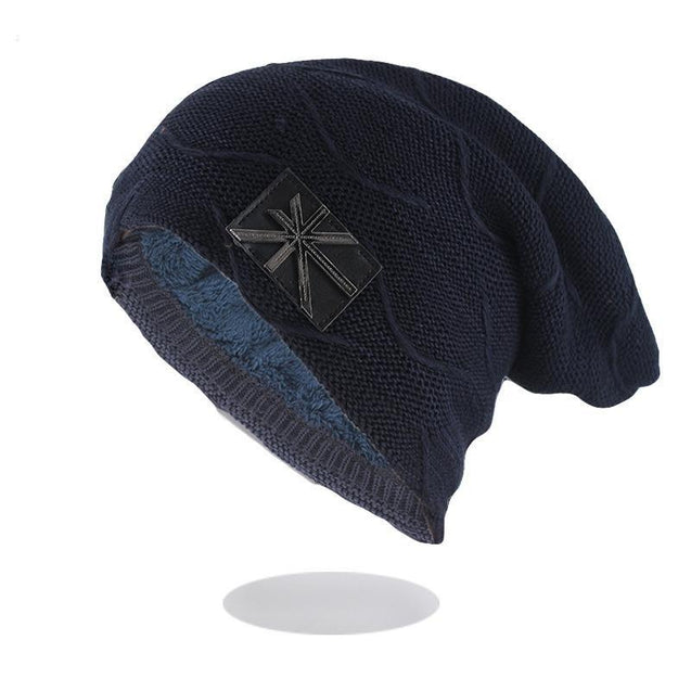 Flag Geometric Wool and Cotton Knit Winter Hat, Beanie, Bonnet or Skullie