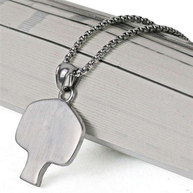 Stainless Steel Basketball Shot Board Pendant Necklace