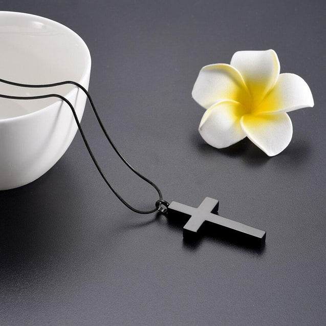 Metallic Jesus Christ Crucifixion Memorial Mini-Urn Pendant Necklace - InnovatoDesign