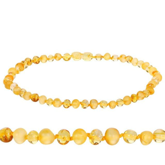 Natural Baltic Amber Stone Bead Necklace