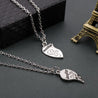 Silver Mother and Daughter Heart Pair Necklace - InnovatoDesign