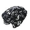 Scribbled Letters Style Cotton Knit Hat, Beanie, Scarf or Skullie