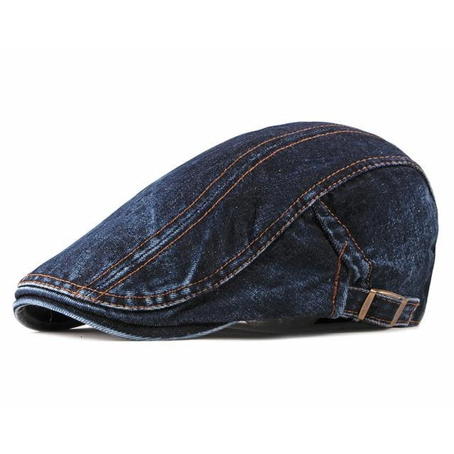 Casual Denim Ivy Irish Cabbie Scally Duckbill Gatsby Flat Cap