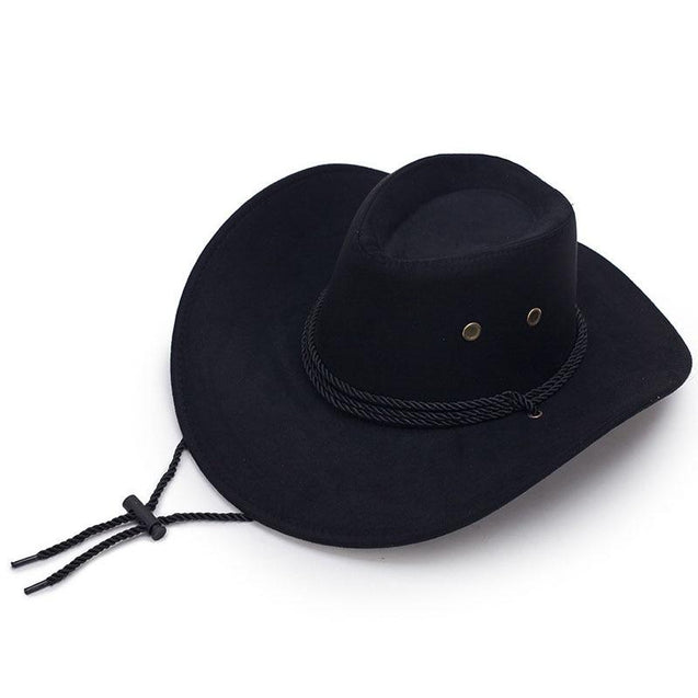 Diamond-shaped Rodeo Cowboy Hat with Adjustable Strap
