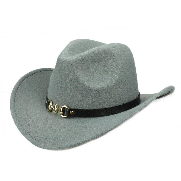 Cowboy Hat with Metal Skull Band