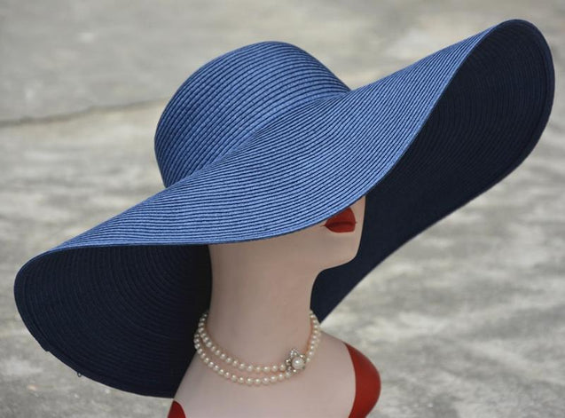 Extra Large Wide Brim Floppy Straw Sun Hat