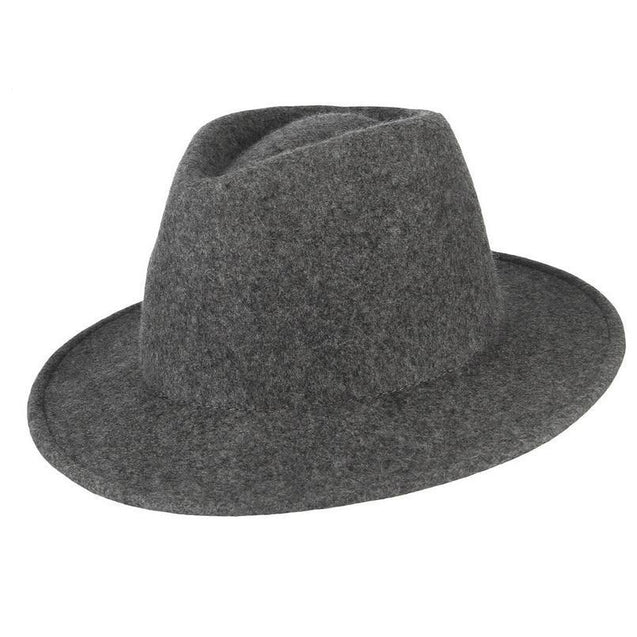 Classic Wide Brim Wool Fedora Hat