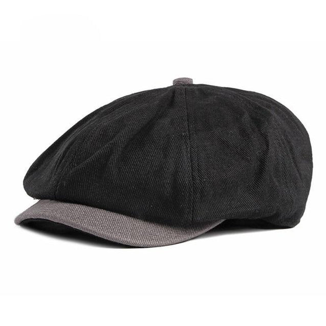 Cotton Octagonal Newsboy Cap