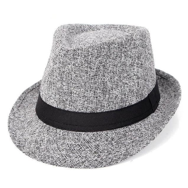 Vintage Flecked Trilby Fedora Hat with Black Hatband