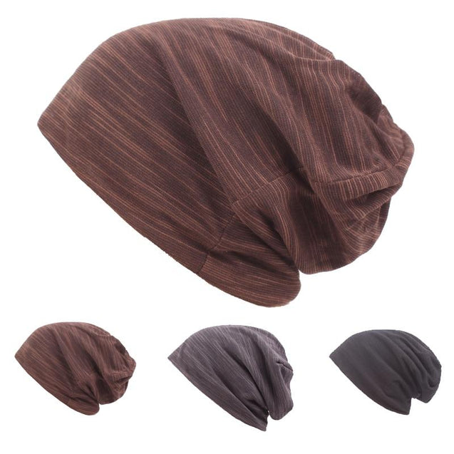Striped Knit Skating Hat, Beanie or Skull Cap