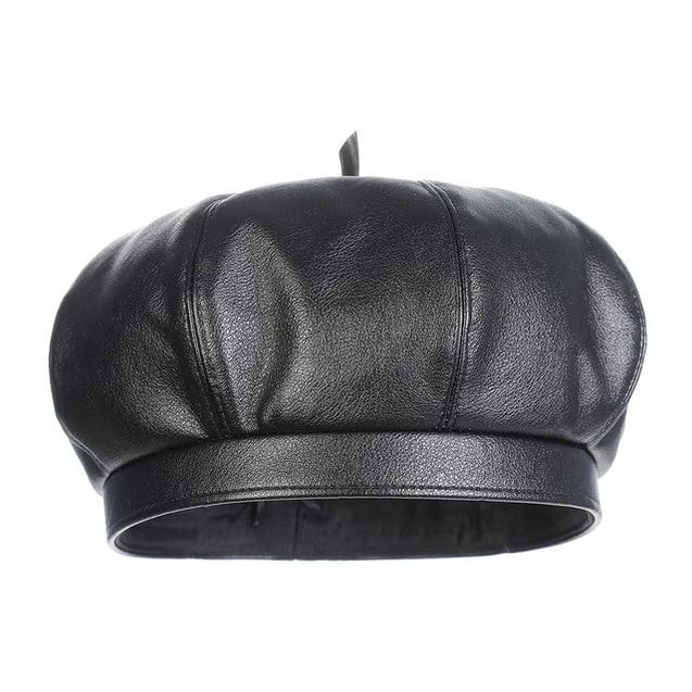 Polyurethane Leather British Painter Octagonal Hat