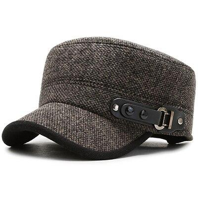 Buckled Cotton Twill Army Military Cap with Rivets and Locks