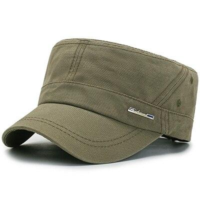 Classic Cotton Flat Top Military Army Hat