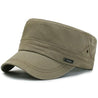 Solid Color Flat Top Military Cap