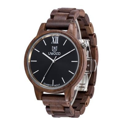 Uwood Men Wooden Watch with Japanese Movement Technology - InnovatoDesign