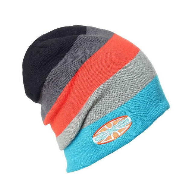 Multicolored Striped Knit Winter Hat, Beanie or Skullies