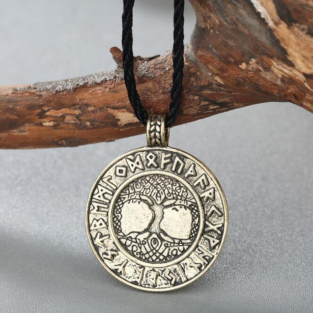 Celtic Tree of Life Stainless Steel Pendant Necklace with Runes - InnovatoDesign