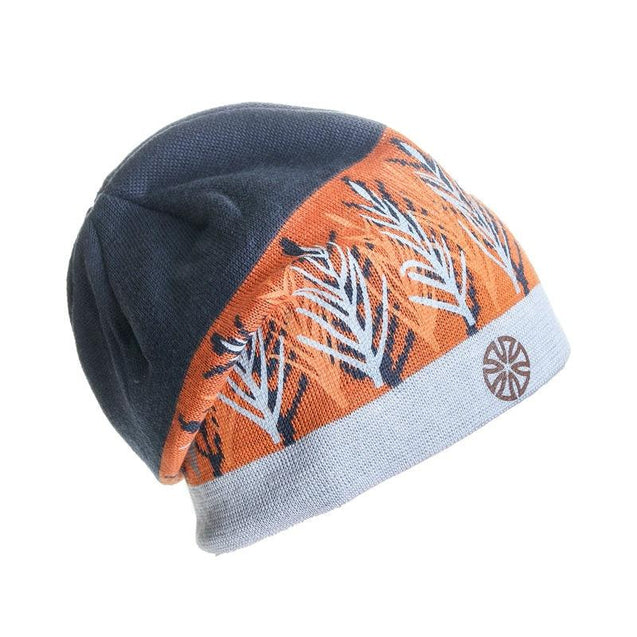 Multicolored Geometric Pattern Knit Hat, Skull Cap or Beanie