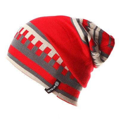 Geometric Patterns Plaid Knit Hat, Skull Cap or Beanie