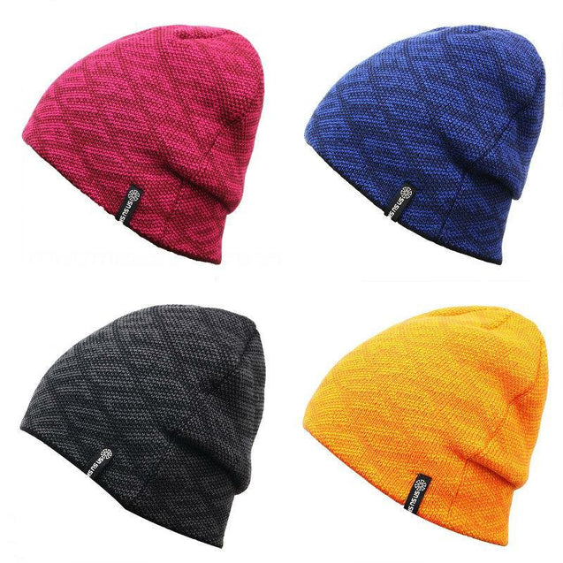 Solid Color Text-printed Knit Hat, Skull Cap or Beanie