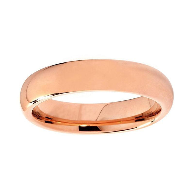Rose Gold Plated Tungsten Flat Ring - InnovatoDesign