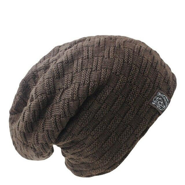Solid Color Hip-hop Crocheted Beanie, Knit Hat or Bonnet