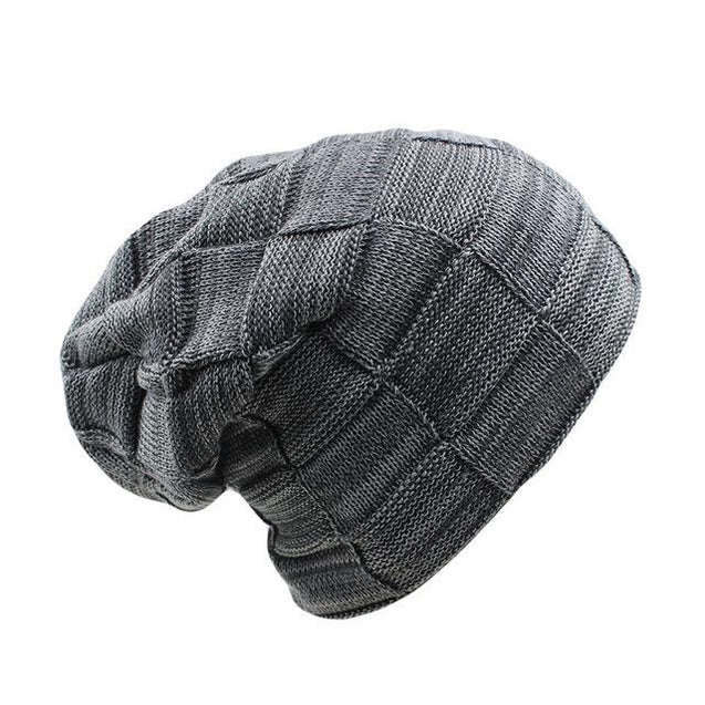 Plaid Thick Wool Beanie, Skullie or Knit Hat