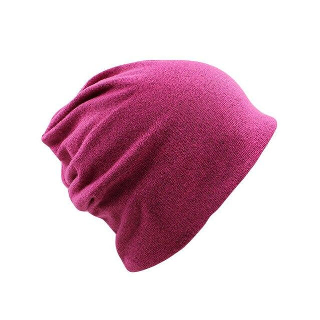 Solid Color Cotton and Polyester Beanie, Scarf or Bonnet