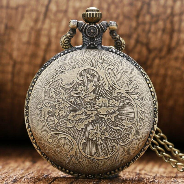 Soviet Themed Bronze Pocket Watch with FOB Chain - InnovatoDesign