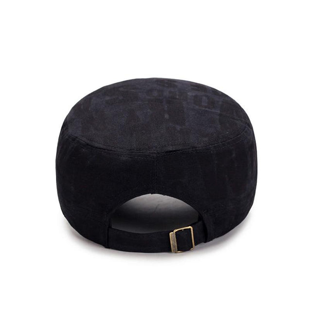 Classic Adjustable Flat Top Snapback Patrol Military Hat