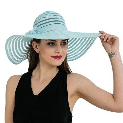Floppy Wide Brim Striped Sun Hats